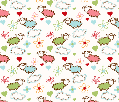 Sheep Dreams fabric by jpdesigns on Spoonflower - custom fabric