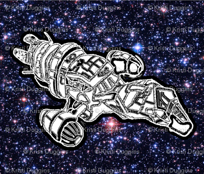 Bohemian Sky | Space Travel |Space Ship Pillow Pattern DIY Project