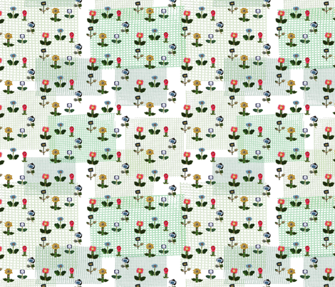 flower meadow, handmade with cloth & paper fabric by dieuwertje on Spoonflower - custom fabric