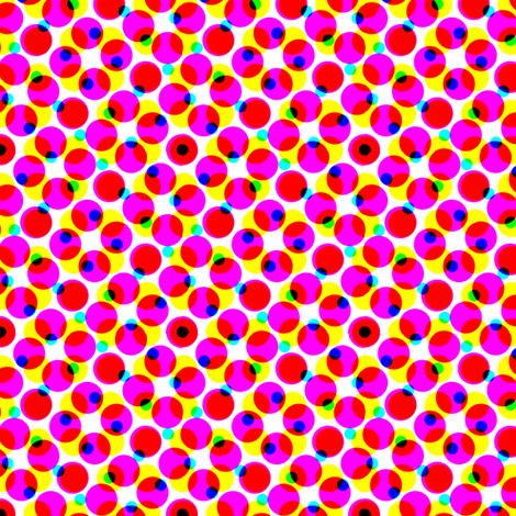 CMYK halftone dots - lipstick pink fabric by weavingmajor on Spoonflower - custom fabric