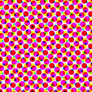 CMYK halftone dots - lipstick pink