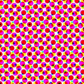 CMYK halftone dots - lipstick pink