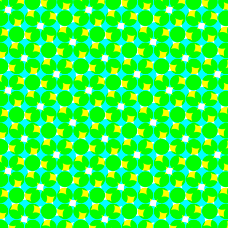 CMYK halftone dots - bright green fabric by weavingmajor on Spoonflower - custom fabric
