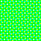 CMYK halftone dots - bright green