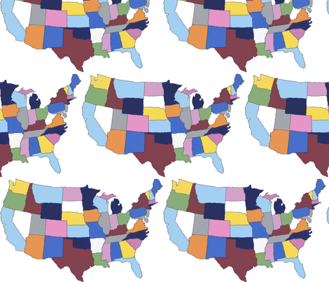 USA fabric by projectm on Spoonflower - custom fabric