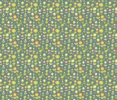 doodle flowers fabric by claire_brown on Spoonflower - custom fabric
