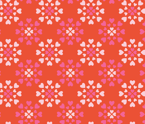 Hearts fabric by pattern_bakery on Spoonflower - custom fabric