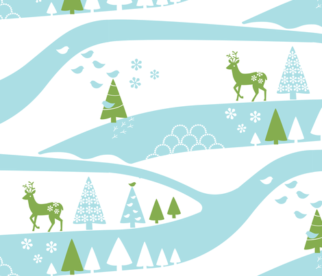 Far away fabric by pattern_bakery on Spoonflower - custom fabric
