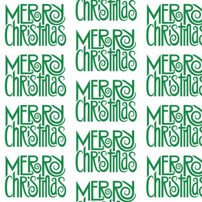 Merry Christmas green