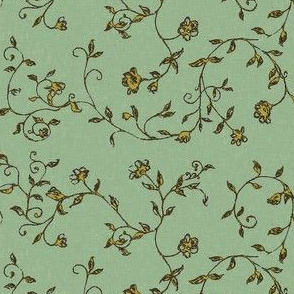 floralsketch_textured_green