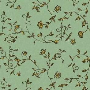 floralsketch_textured_green