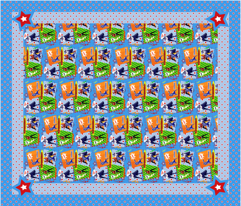 Superhero Cheater Quilt fabric by arttreedesigns on Spoonflower - custom fabric