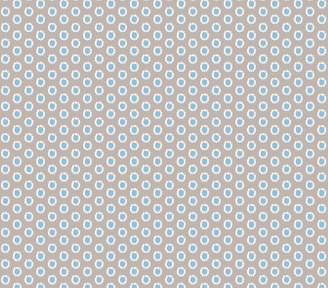 Daisy Blue fabric by bymarie on Spoonflower - custom fabric