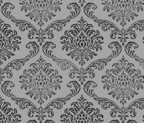 ROCK BROCADE GREY fabric by paragonstudios on Spoonflower - custom fabric