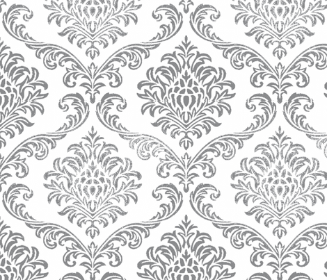 ROCK_BROCADE_WHITE fabric by paragonstudios on Spoonflower - custom fabric