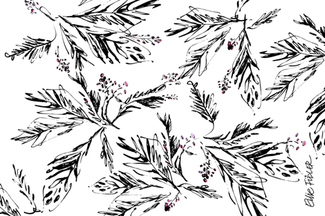 Palm Leaves fabric by ellieshania on Spoonflower - custom fabric