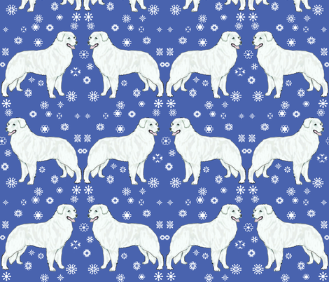 Kuvaszok or Kuvasz white dog fabric by dogdaze_ on Spoonflower - custom fabric