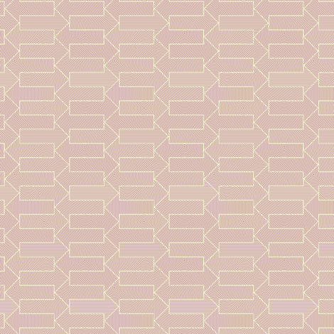 little arrows in sunrise pink fabric by weavingmajor on Spoonflower - custom fabric