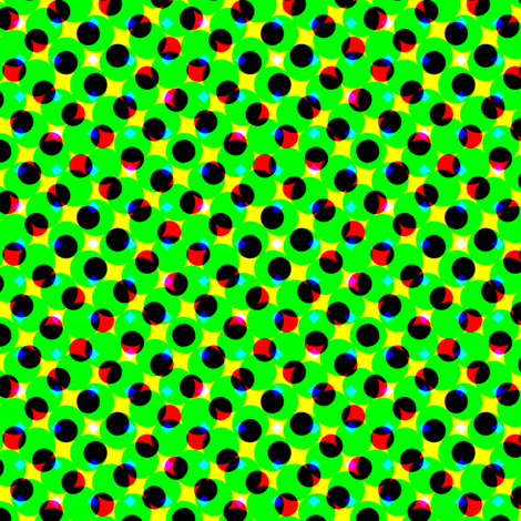 CMYK halftone dots-green fabric by weavingmajor on Spoonflower - custom fabric