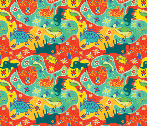 African Inspired fabric by mandakay on Spoonflower - custom fabric