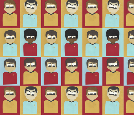 Star Trek fabric by allgeek on Spoonflower - custom fabric