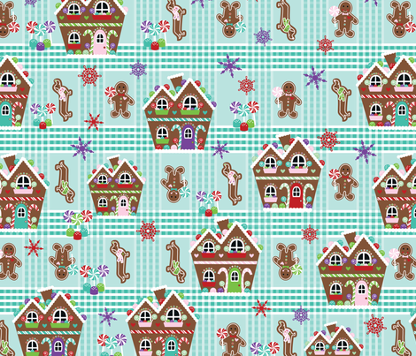 Gingerbread  fabric by mandakay on Spoonflower - custom fabric