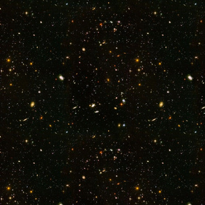 Stars // Rainbow Star Field Dark Galaxy