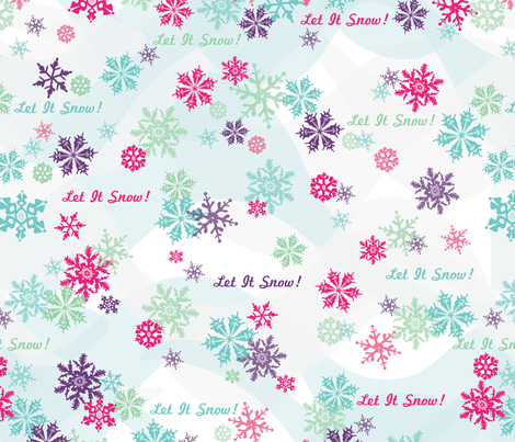 Let It Snow! fabric by mandakay on Spoonflower - custom fabric