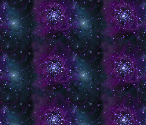 Stars // Purple Swirl Star Field Nebula fabric by stars_and_stones on Spoonflower - custom fabric