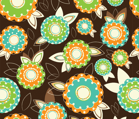 sketchyFlowers-01 fabric by mandakay on Spoonflower - custom fabric