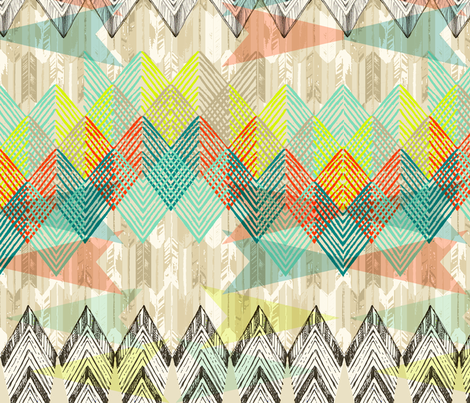 Arrow Geometry_Primary fabric by pattern_state on Spoonflower - custom fabric