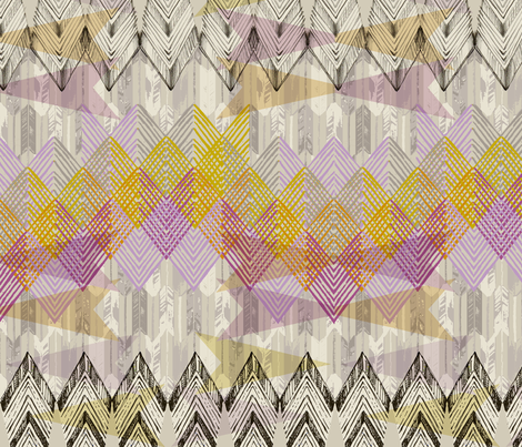 Arrow Geometry_Violet fabric by pattern_state on Spoonflower - custom fabric