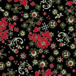 Ditsy Flora / black