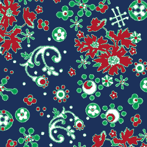 Ditsy Flora / Navy fabric by paragonstudios on Spoonflower - custom fabric