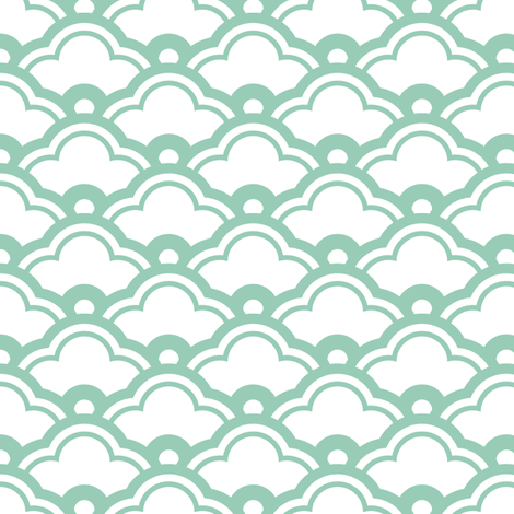 matsukata in jade fabric by chantae on Spoonflower - custom fabric