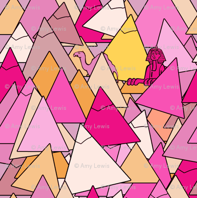 pyramids in pink