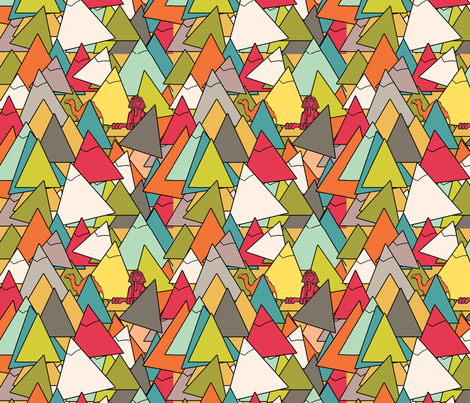 pyramids fabric by cairocraft on Spoonflower - custom fabric