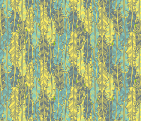 Ruffle Some Feathers (Flights of Fancy) fabric by leighr on Spoonflower - custom fabric