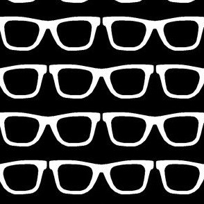 glasses black and white