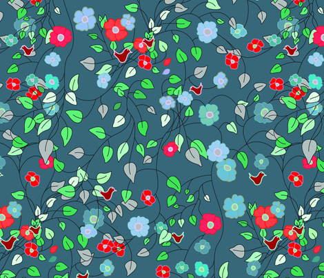 spring flowers fabric by rcm-designs on Spoonflower - custom fabric