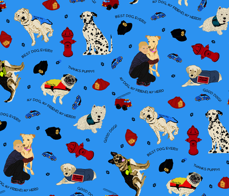My Dog My Friend My Hero fabric by beebumbles_boy on Spoonflower - custom fabric