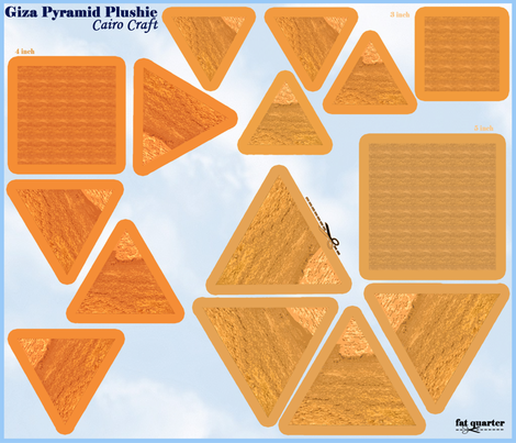 Giza_pyramid_plushie beanies fabric by cairocraft on Spoonflower - custom fabric
