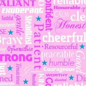heroic in pink