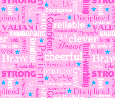 heroic in pink fabric by weavingmajor on Spoonflower - custom fabric