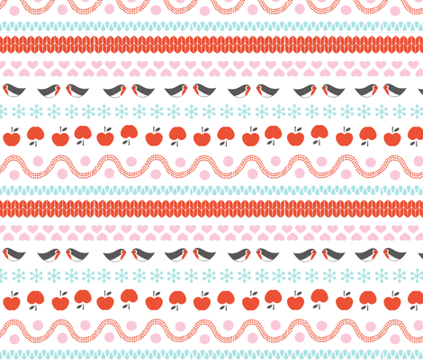 Winter bird fabric by pattern_bakery on Spoonflower - custom fabric