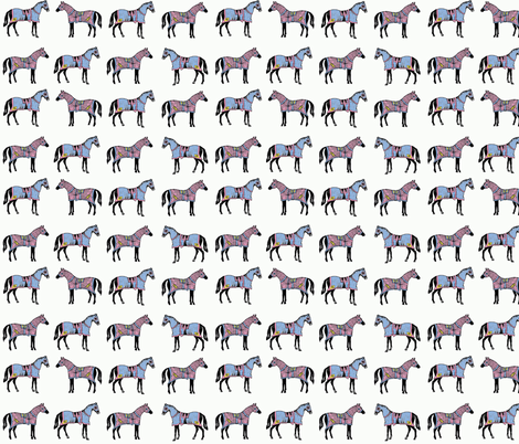 Horses in disguise fabric by ragan on Spoonflower - custom fabric