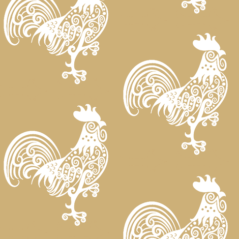 POLLO_WHITE fabric by mammajamma on Spoonflower - custom fabric