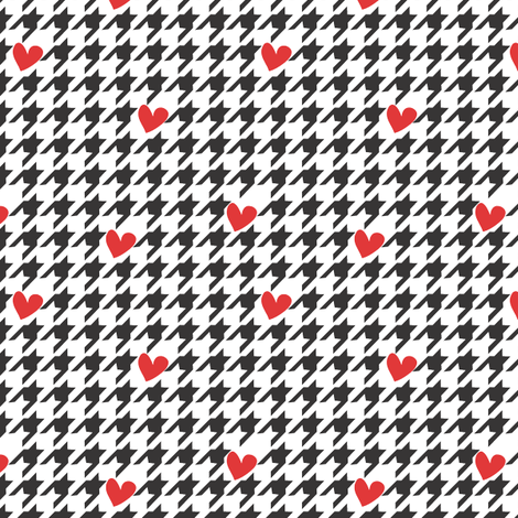 Hearts and Houndstooth fabric by empireruhl on Spoonflower - custom fabric