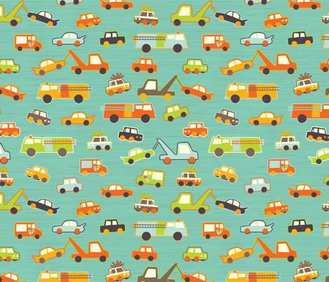 Hero-saurus Vehicles fabric by jennartdesigns on Spoonflower - custom fabric