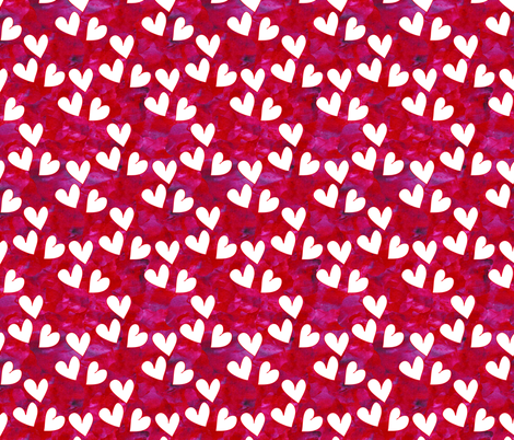 Textured Hearts fabric by empireruhl on Spoonflower - custom fabric